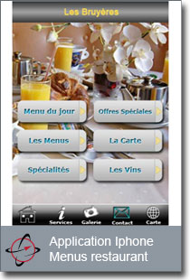 application mobile Bruyeres menus