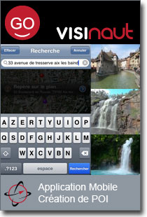 application mobile visinaute